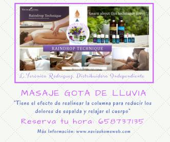 Masajes Gota de Lluvia.